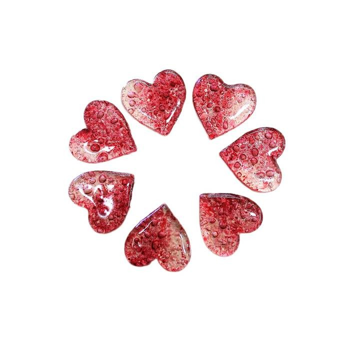 Cœurs en sucre bullé - x80