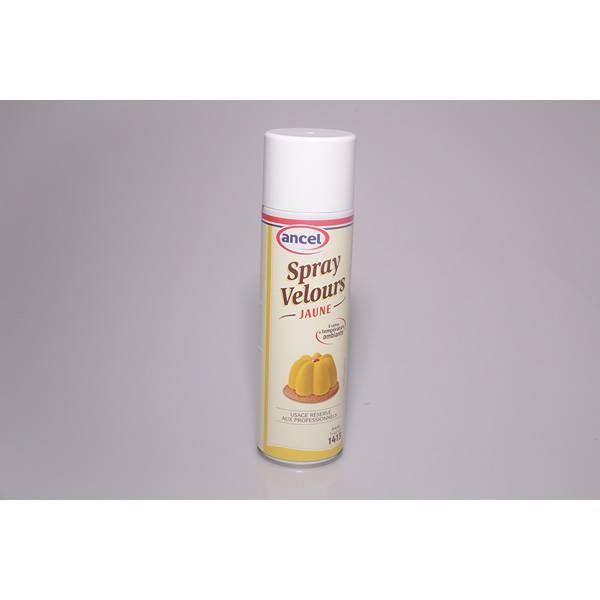 Bombe spray velours jaune