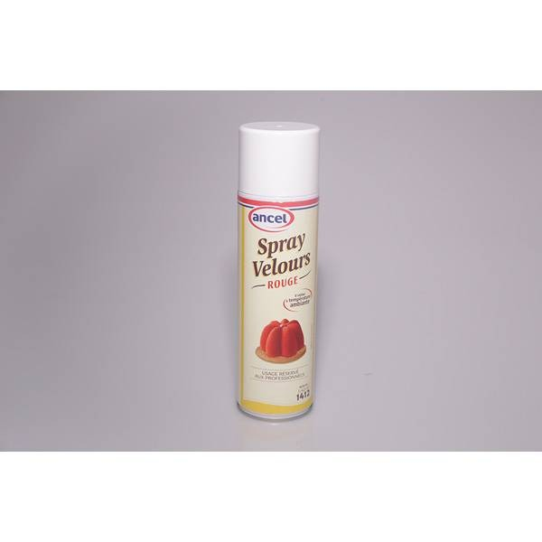 Bombe spray velours rouge