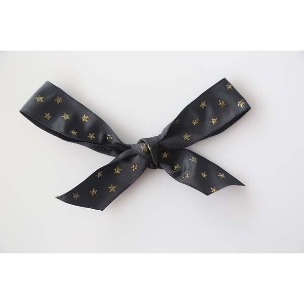 Ruban noir étoile or