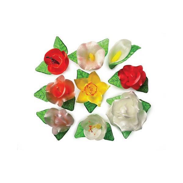 Bouquet floral en sucre - x18
