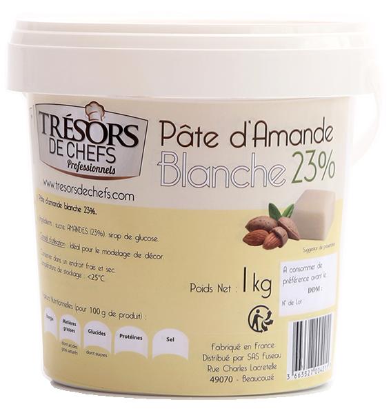 Pâte d'amande blanche 23% - 1kg