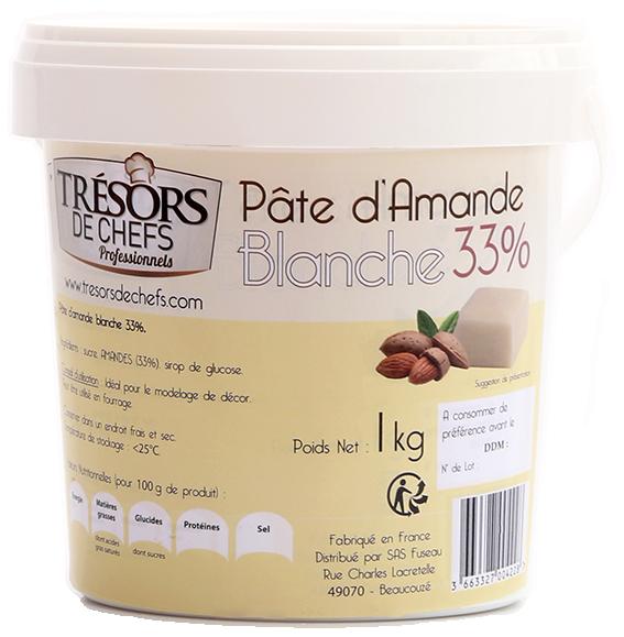 Pâte d'amande blanche 33% - 1kg