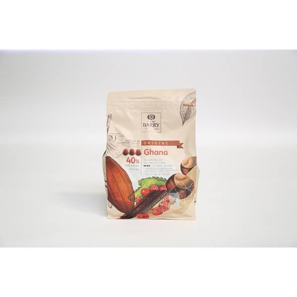 Chocolat lait Ghana 40%