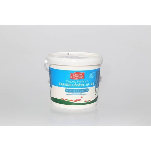 Crème fraîche épaisse 15% - 5kg