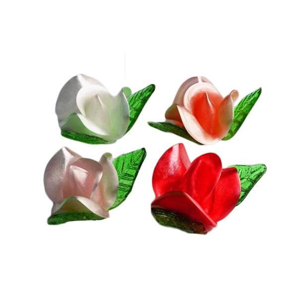 Roses en sucre tiré - x24
