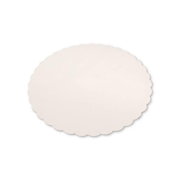 Rond festonné blanc - x250