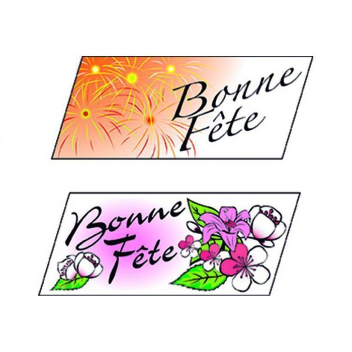 Rectangle bonne fête - x24