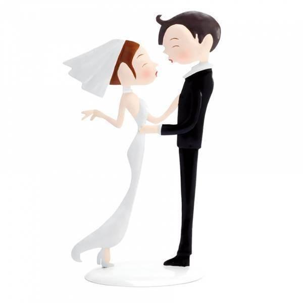 Sujet mariés en métal